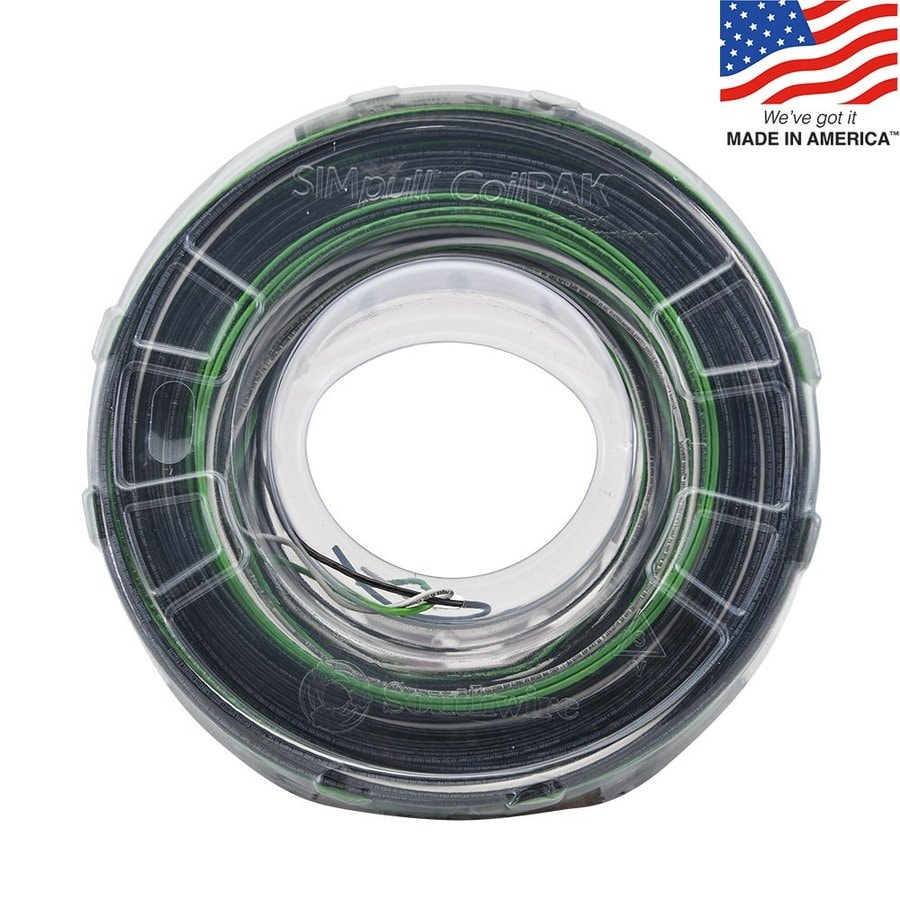 Southwire SIMpull Coilpak 350-ft 12 Awg Solid Black/White/Green Copper THHN Wire (By-The-Roll)