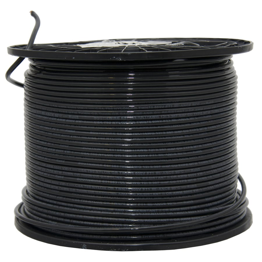 Shop Southwire 12-AWG Copper Stranded Black XHHW Wire (By-the-Roll ...