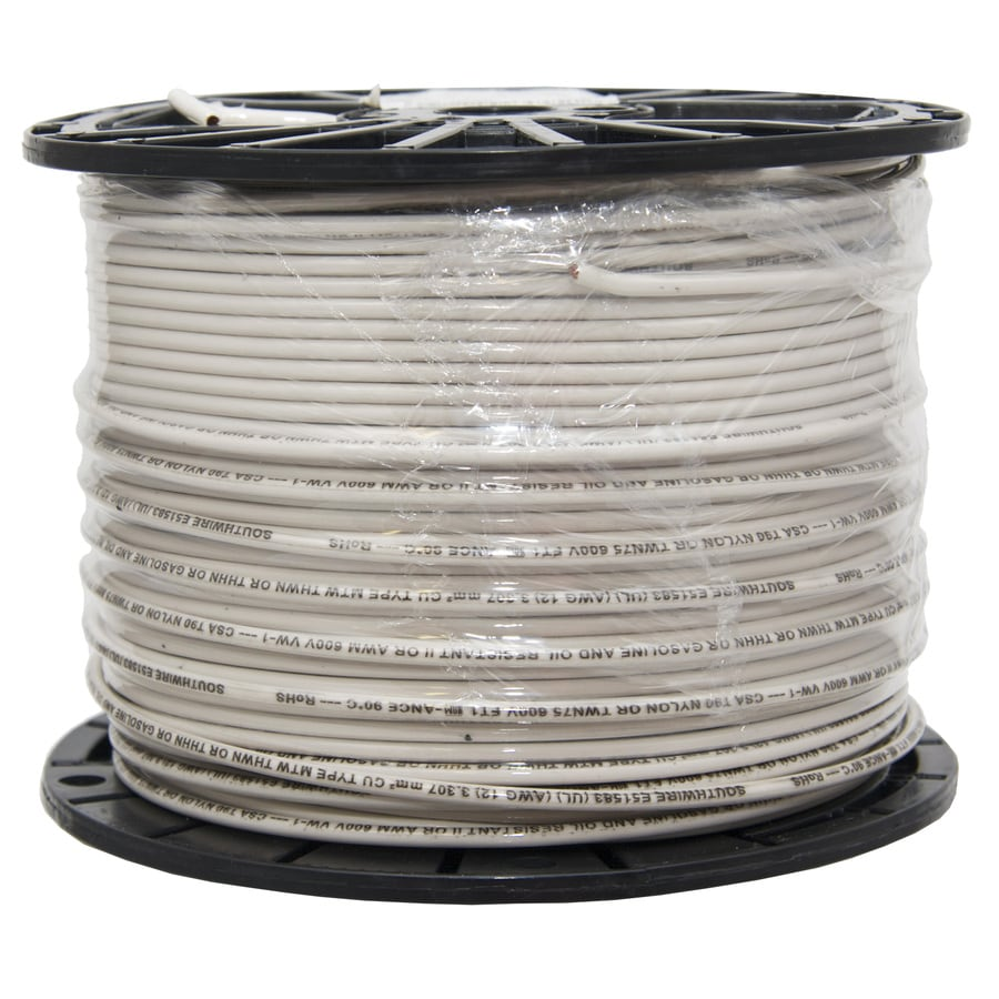 Shop Southwire 12-AWG Copper Stranded White XHHW Wire (By-the-Roll ...