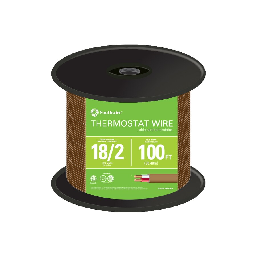100-ft 18-AWG 2-Conductor Thermostat Wire (By-the-Roll)