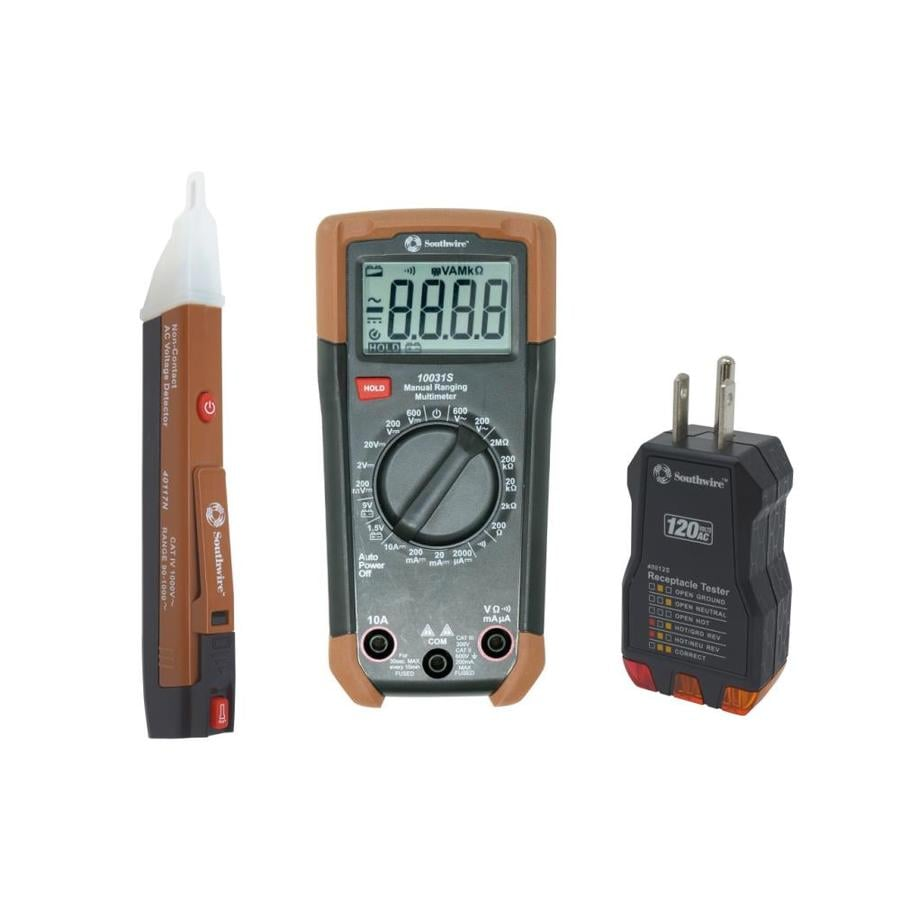 Electrical Meter Testers : Southwire analog digital multimeter meter electrical