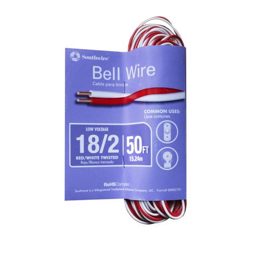 Southwire 50 Ft 18 2 Solid Twisted Doorbell Wire By The Roll In The Doorbell Wire By The Roll Department At Lowes Com