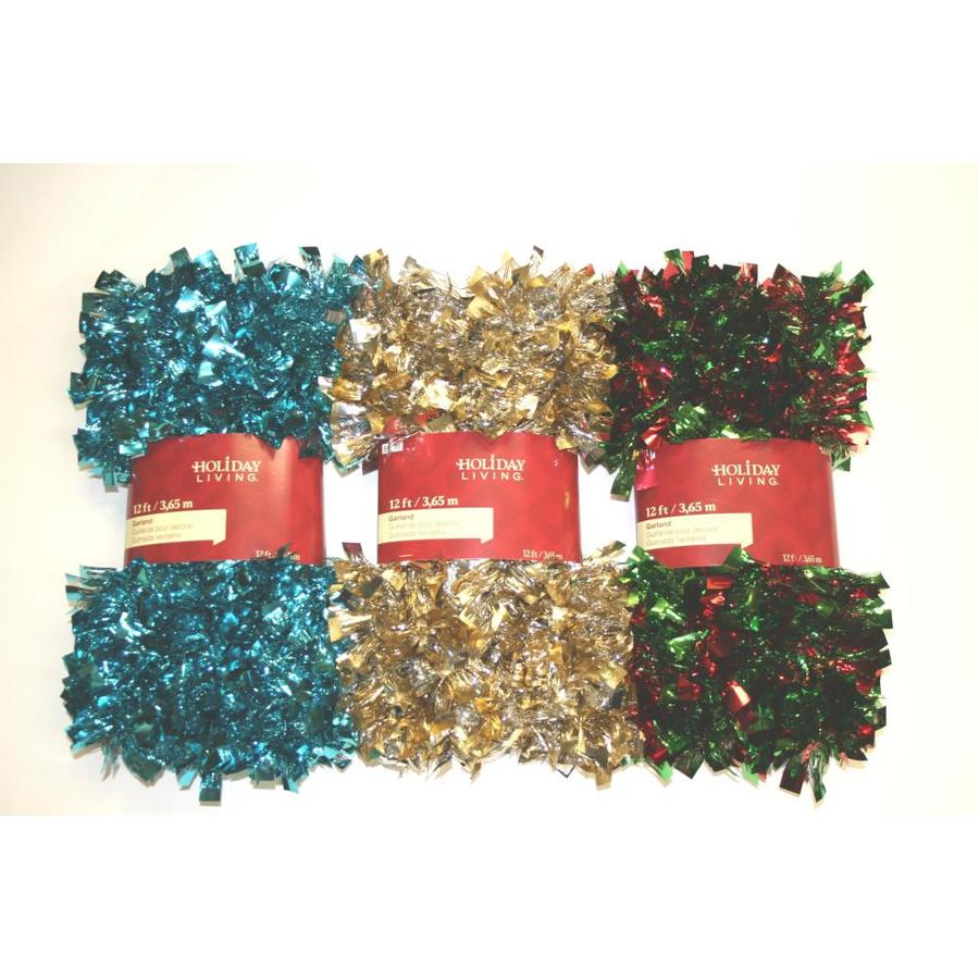 Holiday Living 3-in x 12-ft Tinsel Artificial Christmas Garland