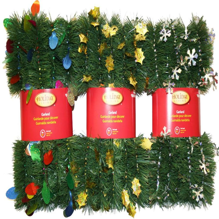 Holiday Living 3-in x 12-ft Pine Artificial Christmas Garland