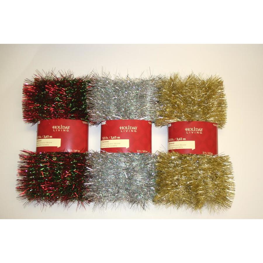 Holiday Living 6-in x 12-ft Tinsel Artificial Christmas Garland