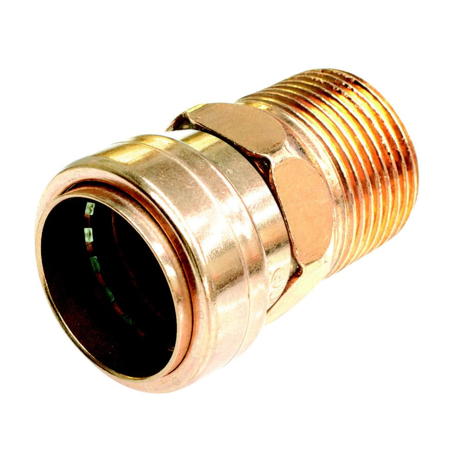 Mueller Proline 1/2-in x 1/2-in x 1/2-in Copper Push-Fit Adapter Fitting