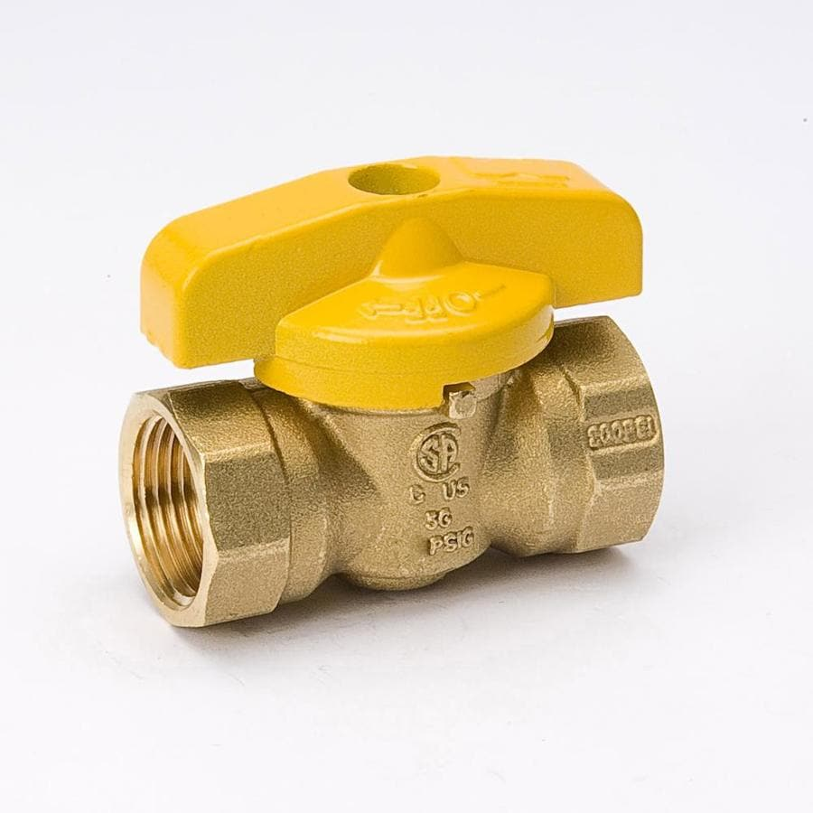 Mueller Streamline 3/4-In Brass Female In-Line Gas Ball Valve