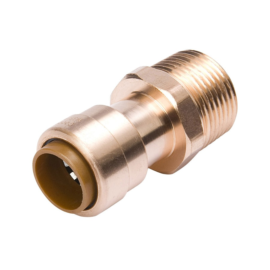 Mueller Proline 1/2-in x 3/4-in Copper Push-Fit Adapter Fittings