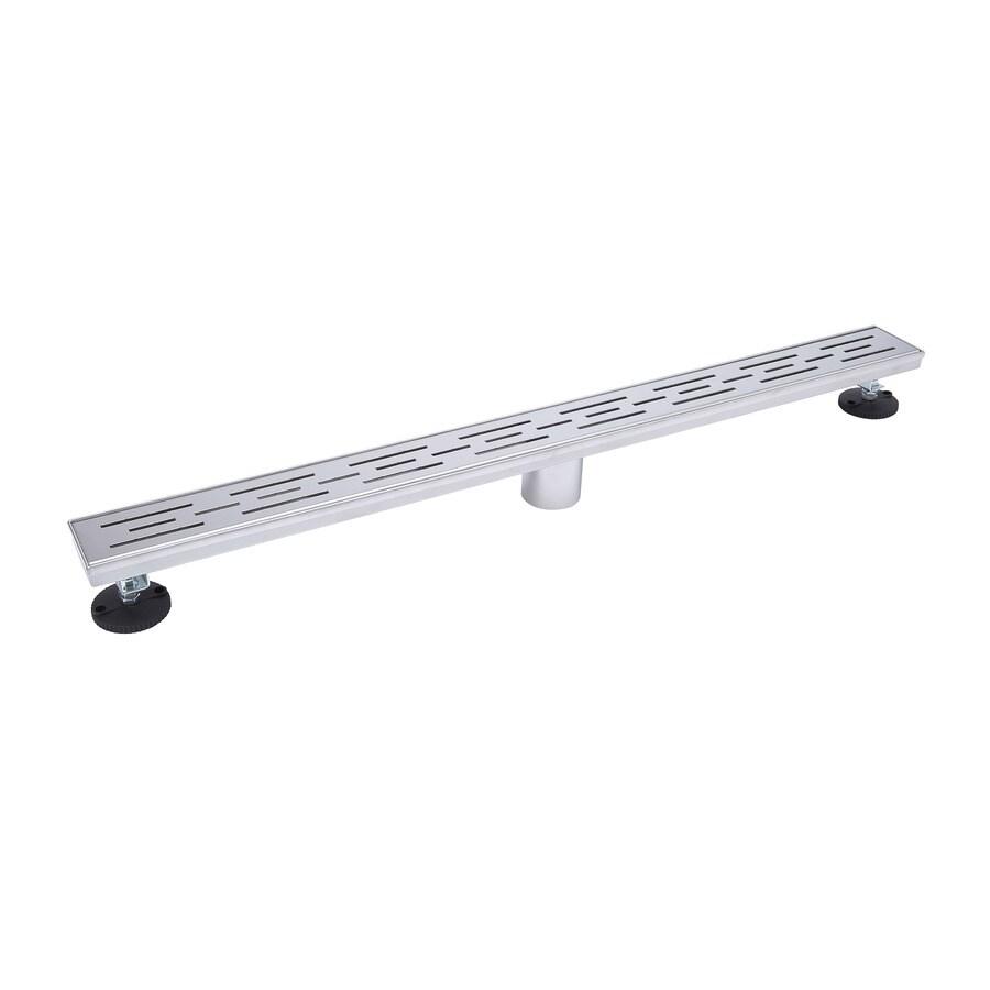 B&K Chrome Stainless Steel Linear Shower Drain