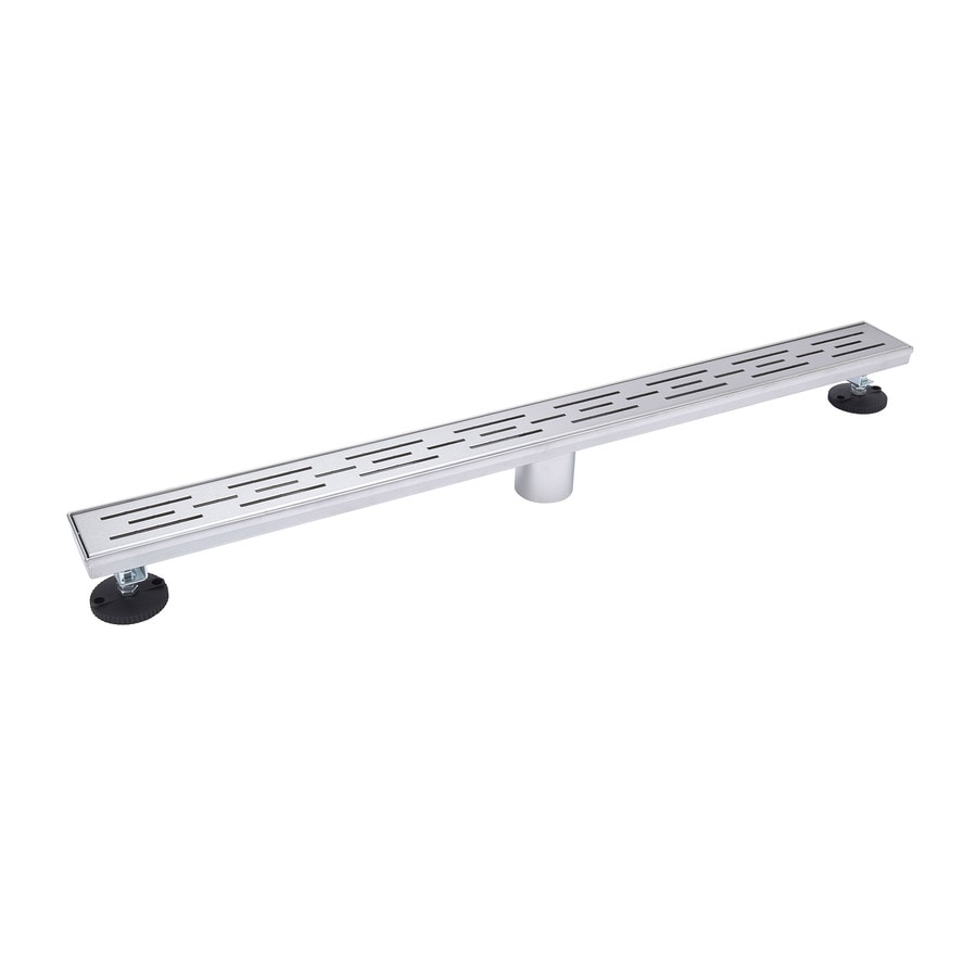 Shop B K Gray Stainless Steel Linear Shower Drain At
