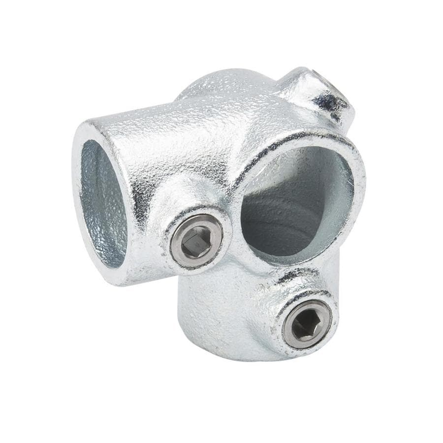 B&K 3/4-in x 3/4-in x 3/4-in 90-Degree Gray Galvanized Steel Structural Pipe Fitting Tee