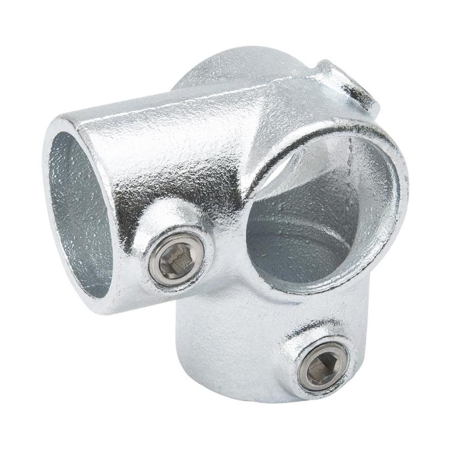 B&K 1-1/4-in x 1-1/4-in x 1-1/4-in 90-Degree Gray Galvanized Steel Structural Pipe Fitting Tee