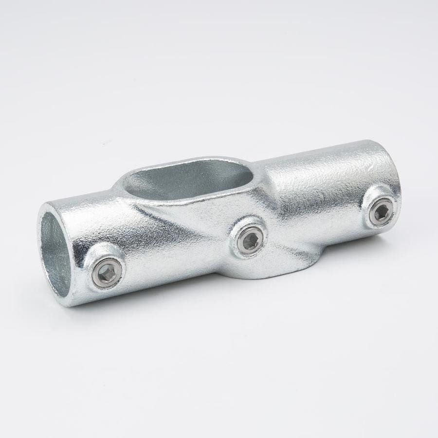 SteelTek 1-1/4-in x 1-1/4-in x 1-1/4-in x 90-Degree Gray Galvanized Steel Structural Pipe Fitting Cross Tee