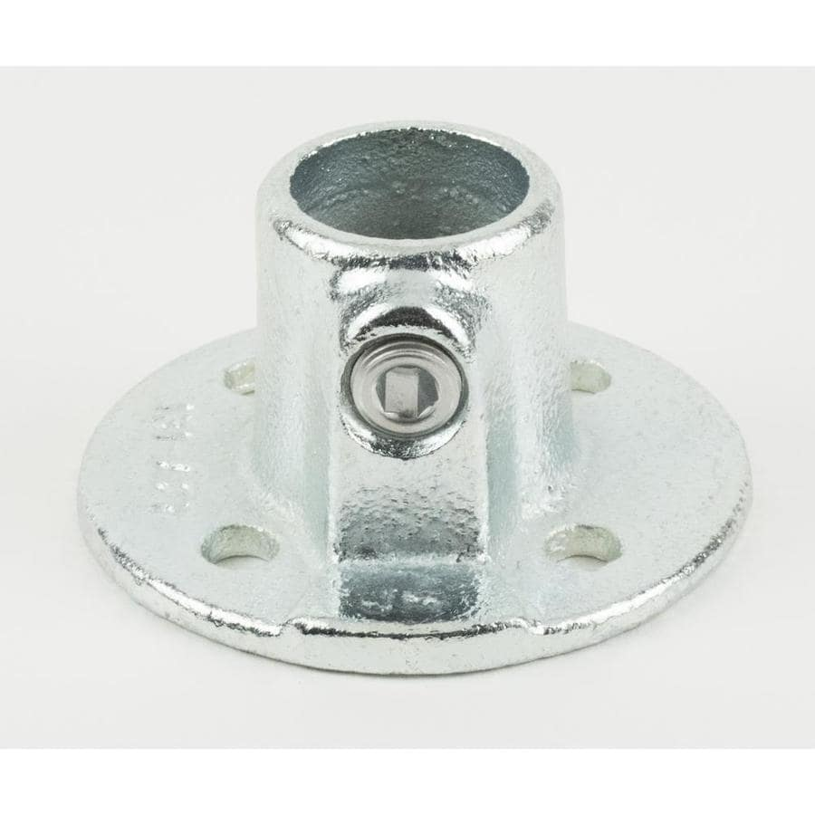 Shop steeltek 3 4 in silver galvanized steel structural for 1 inch square floor flange