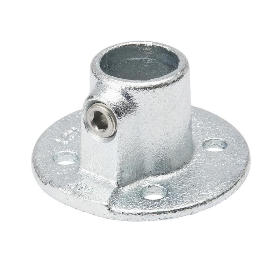 SteelTek 1-1/4-in x 1-1/4-in Gray Galvanized Steel Structural Pipe Fitting Floor Flange