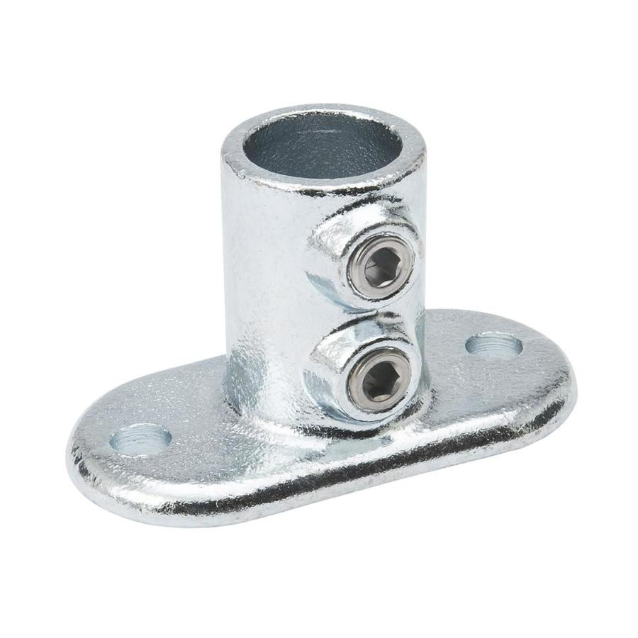 SteelTek 1-1/4-in Gray Galvanized Steel Structural Pipe Fitting Rail Flange