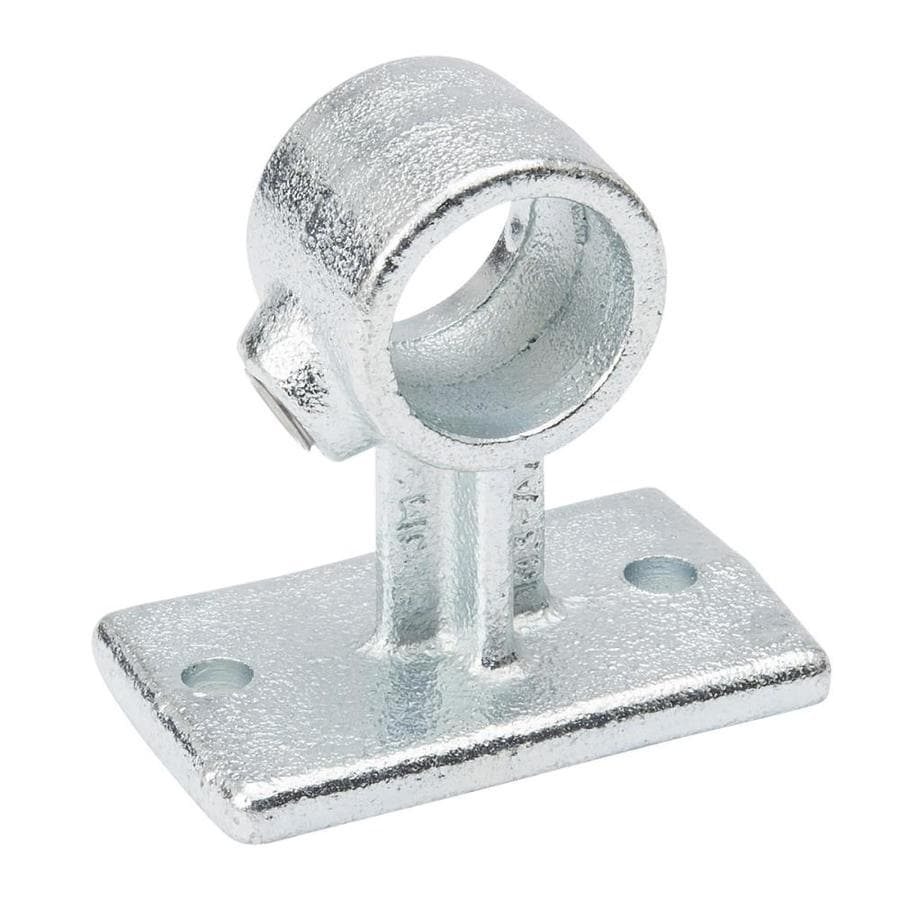 SteelTek 3/4-in Silver Galvanized Steel Structural Pipe Fitting Rail Support