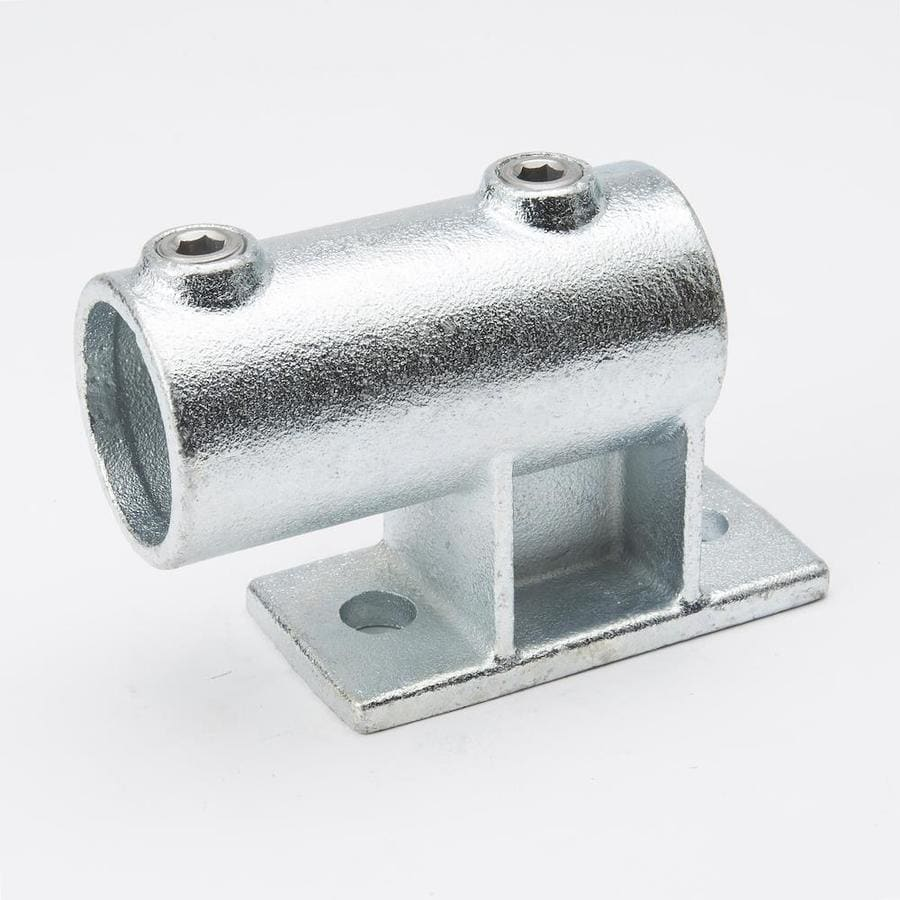 B&K 1-1/4-in x 1-1/4-in Gray Galvanized Steel Structural Pipe Fitting Rail Support