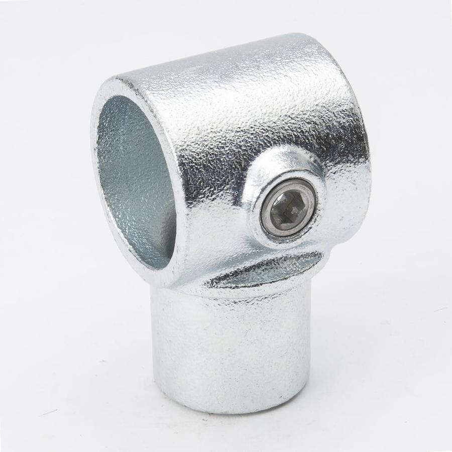 SteelTek 1-1/4-in x 90-Degree Gray Galvanized Steel Structural Pipe Fitting Tee