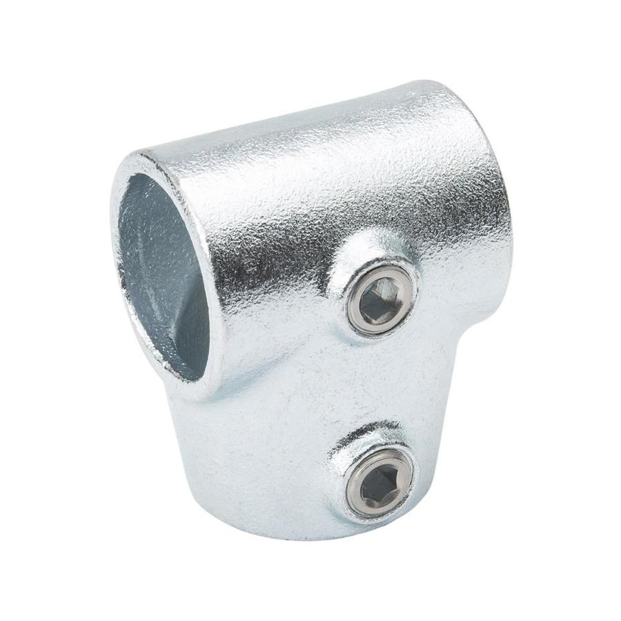 SteelTek 1-1/4-in x 90-Degree Silver Steel Structural Pipe Fitting Rail Flange