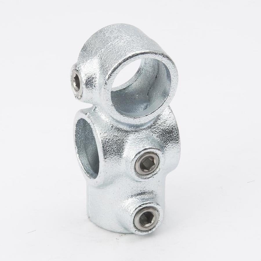 B&K 3/4-in x 3/4-in 90-Degree Gray Galvanized Steel Structural Pipe Fitting Combination Socket