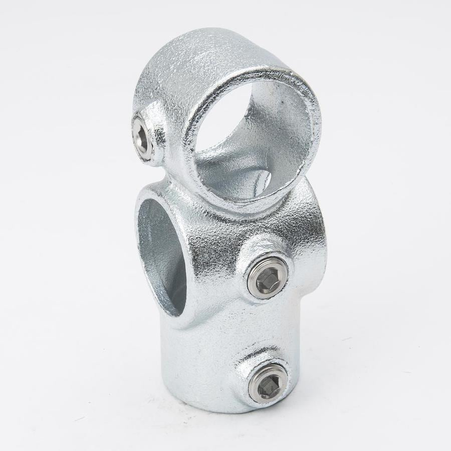 B&K 1-1/4-in x 1-1/4-in 90-Degree Gray Galvanized Steel Structural Pipe Fitting Combination Socket