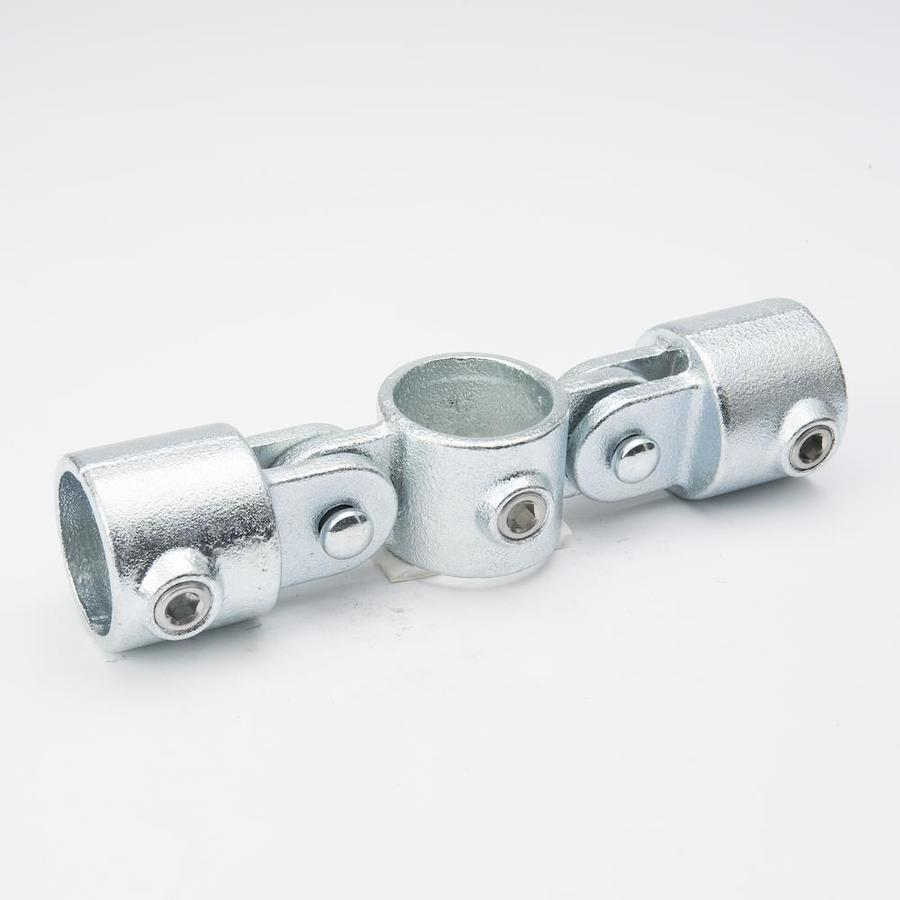 SteelTek 1-1/4-in x 90-Degree Gray Galvanized Steel Structural Pipe Fitting Rail Flange
