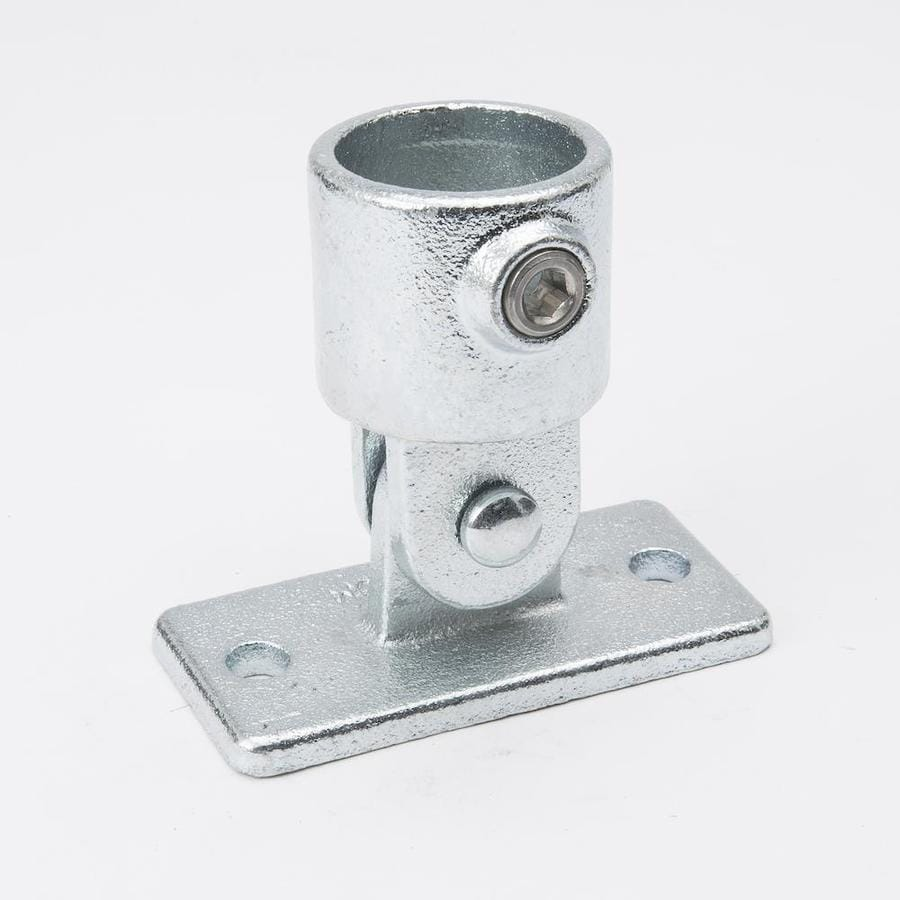 B&K 1-1/4-in x 1-1/4-in Gray Galvanized Steel Structural Pipe Fitting Swivel Base