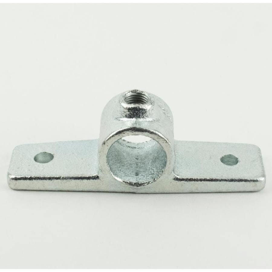 SteelTek 3/4-in Silver Steel Structural Pipe Fitting Rail Flange