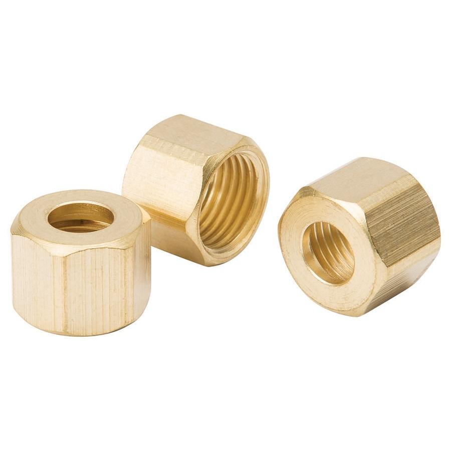 B&K 3-Pack 1/4-in x 1/4-in Compression Nut Cap Fitting