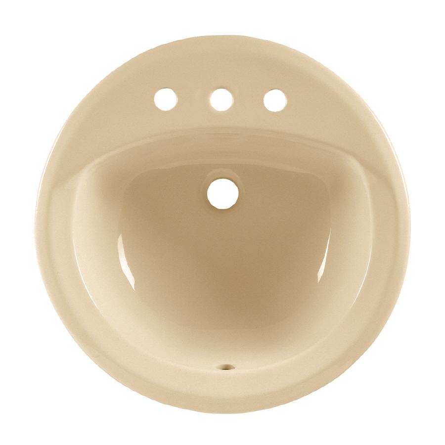 American Standard Rondalyn White Drop-In Round Bathroom Sink with Overflow
