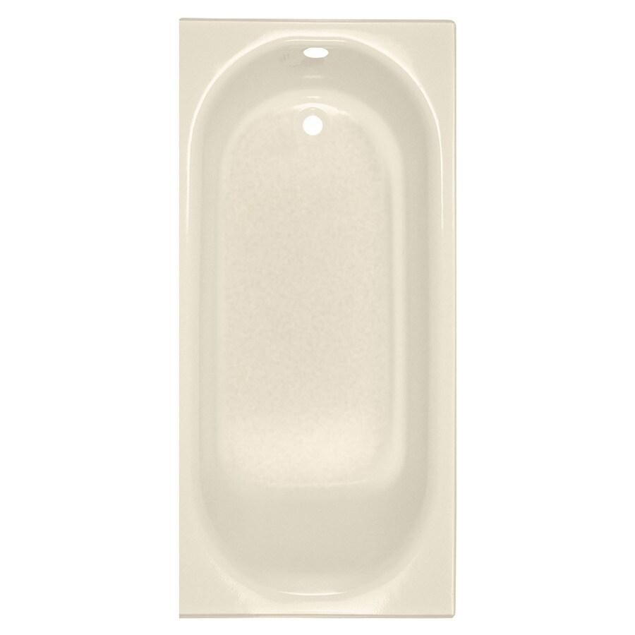 American Standard Princeton 60-in Bone Enameled Steel Alcove Bathtub with Left-Hand Drain