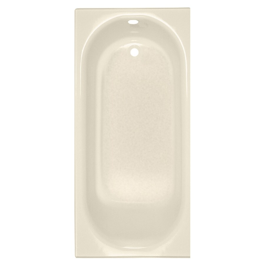 American Standard Princeton Porcelain Enameled Steel Rectangular Skirted Bathtub with Right-Hand Drain (Common: 30-in x 60-in; Actual: 14-in x 30-in x 60-in)