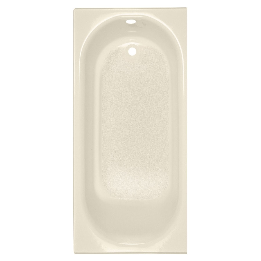 American Standard Princeton 60-in Bone Porcelain Enameled Steel Alcove Bathtub with Left-Hand Drain