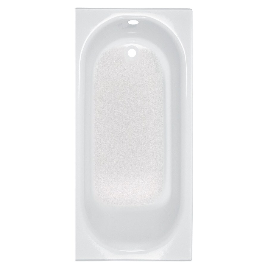 American Standard Princeton White Porcelain Enameled Steel Rectangular Skirted Bathtub with Right-Hand Drain (Common: 30-in x 60-in; Actual: 17.5-in x 30-in x 60-in)