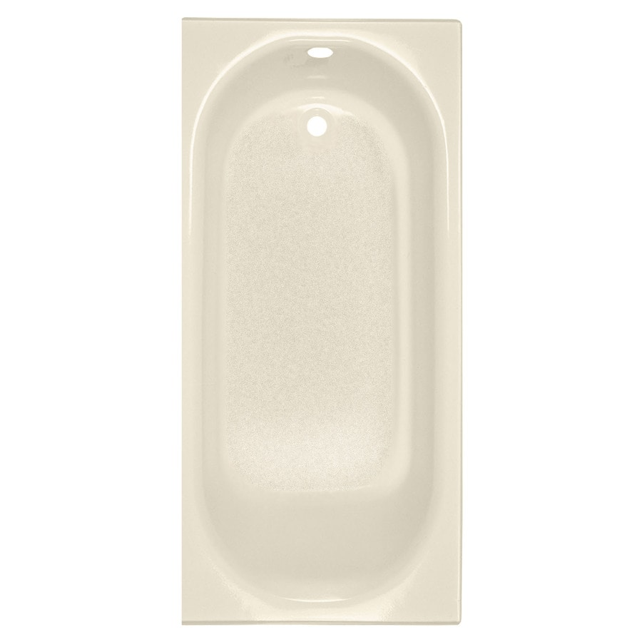 American Standard Princeton Bone Porcelain Enameled Steel Rectangular Skirted Bathtub with Right-Hand Drain (Common: 30-in x 60-in; Actual: 17.5-in x 30-in x 60-in)