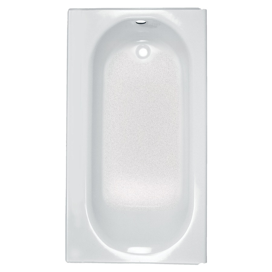 American Standard Princeton White Porcelain Enamel Rectangular Skirted Bathtub with Right-Hand Drain (Common: 34-in x 60-in; Actual: 14-in x 34-in x 60-in)