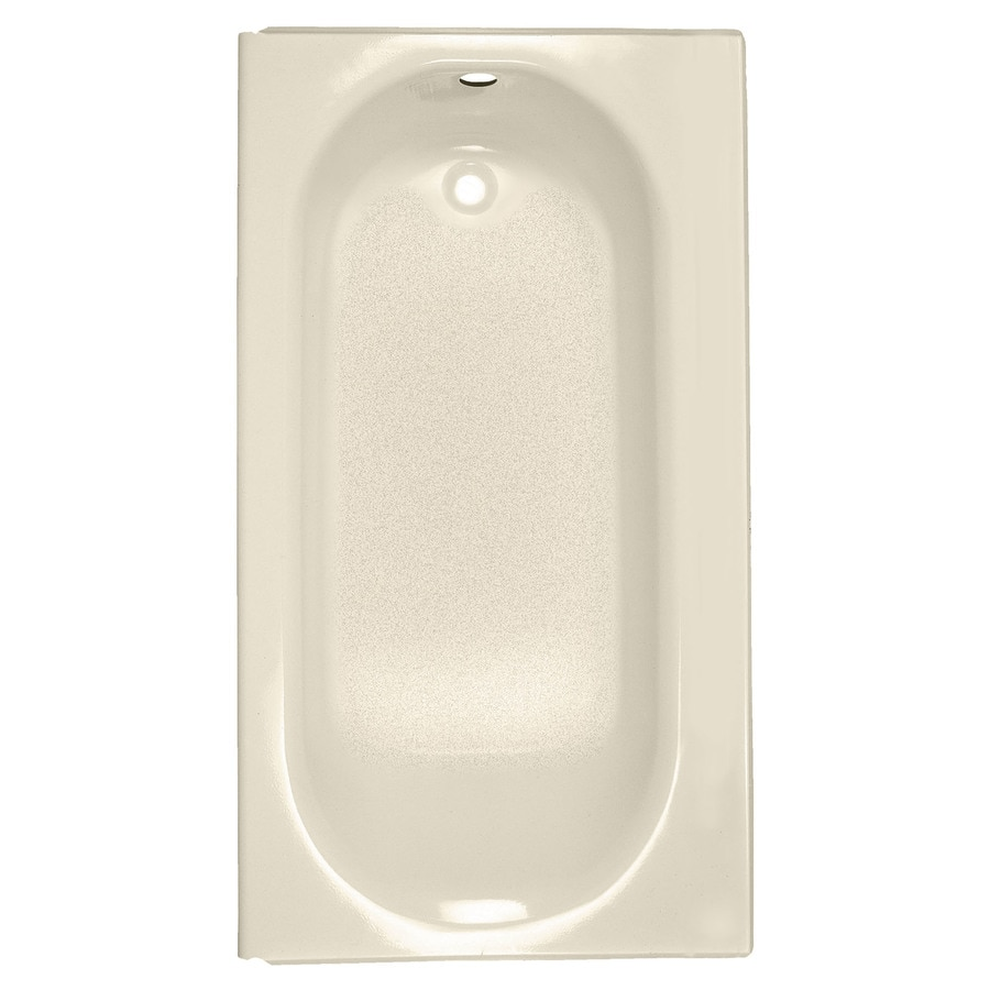 American Standard Princeton Bone Porcelain Enameled Steel Rectangular Skirted Bathtub with Right-Hand Drain (Common: 34-in x 60-in; Actual: 14-in x 34-in x 60-in)