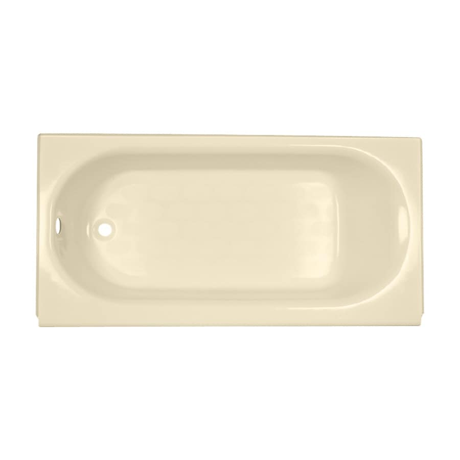 American Standard Princeton Porcelain Enameled Steel Rectangular Skirted Bathtub with Left-Hand Drain (Common: 34-in x 60-in; Actual: 17.5-in x 34-in x 60-in)