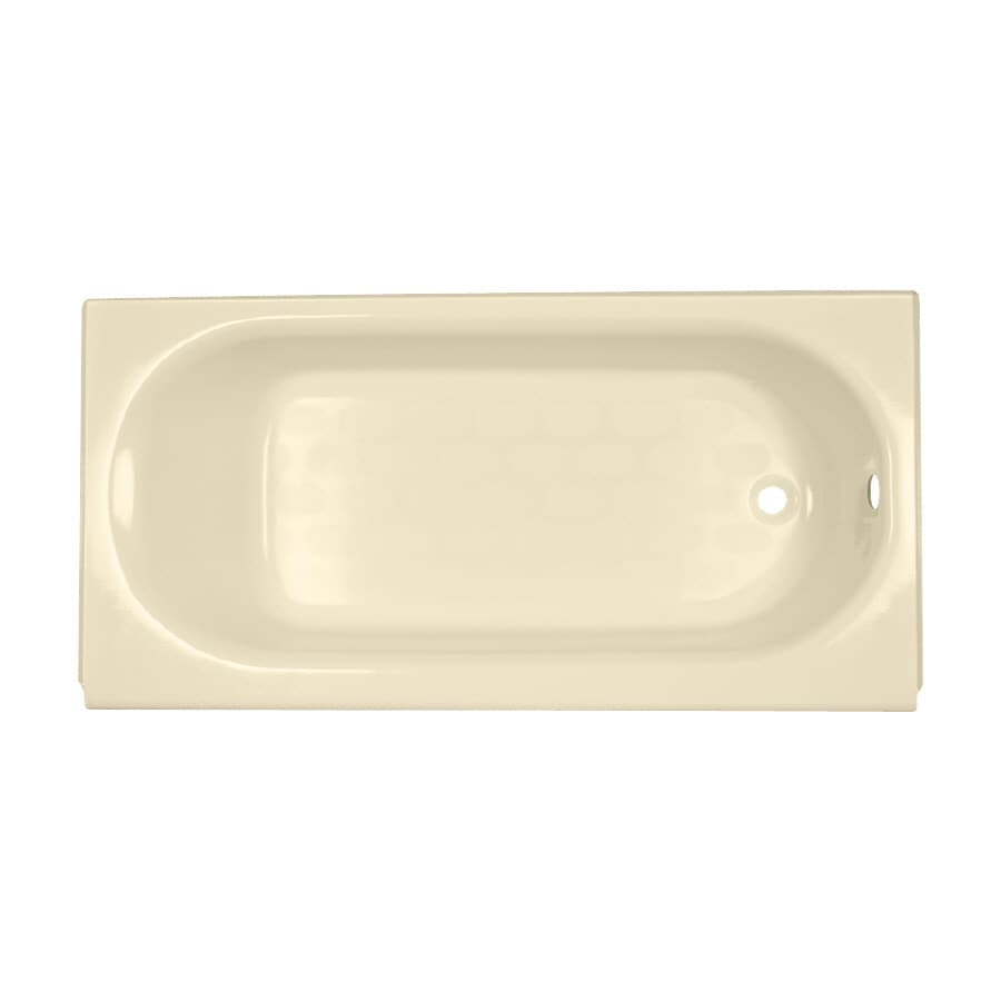 American Standard Princeton Porcelain Enameled Steel Rectangular Skirted Bathtub with Right-Hand Drain (Common: 34-in x 60-in; Actual: 17.5-in x 34-in x 60-in)