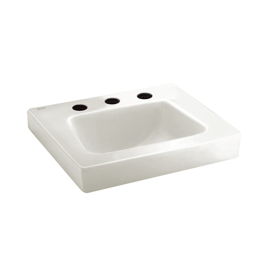 American Standard Roxalyn White Wall-Mount Rectangular Bathroom Sink