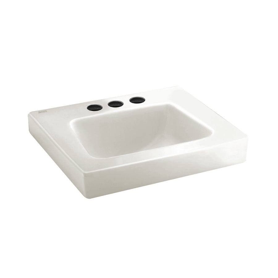 ... Standard White Wall-Mount Rectangular Bathroom Sink at Lowes.com