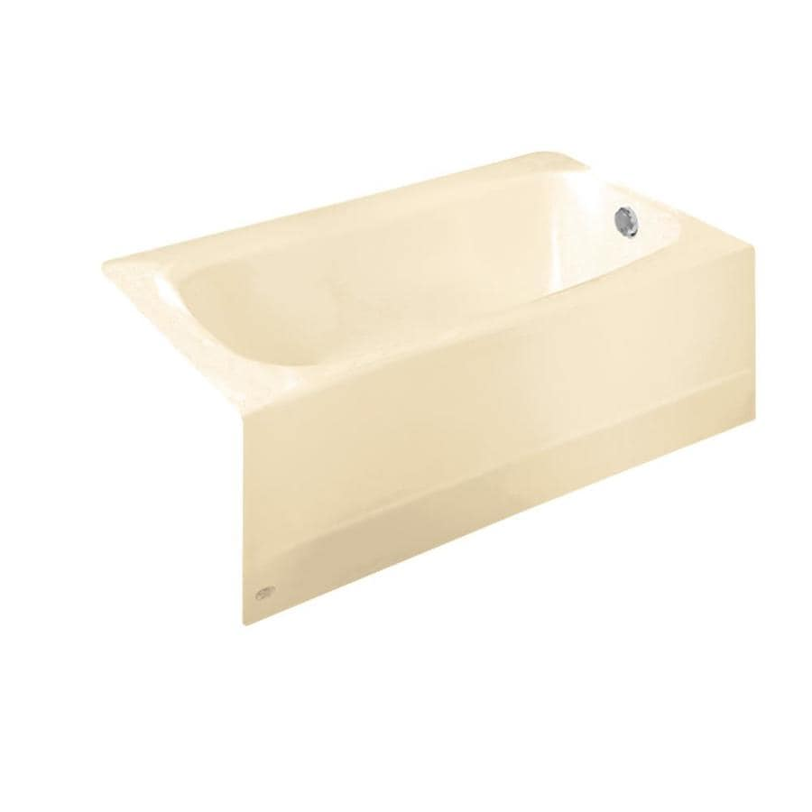 American Standard Cambridge 60-in Bone Reinforced Porcelain Enamel/Metal Skirted Bathtub with Right-Hand Drain