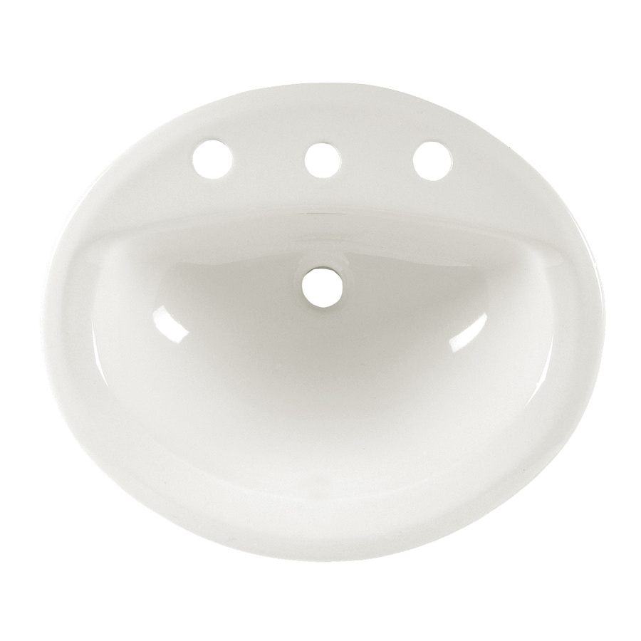 American Standard Aqualyn White Drop-In Oval Bathroom Sink