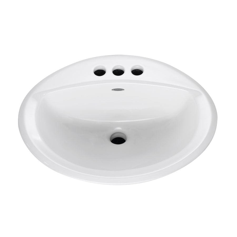 American Standard Aqualyn White Drop-In Oval Bathroom Sink