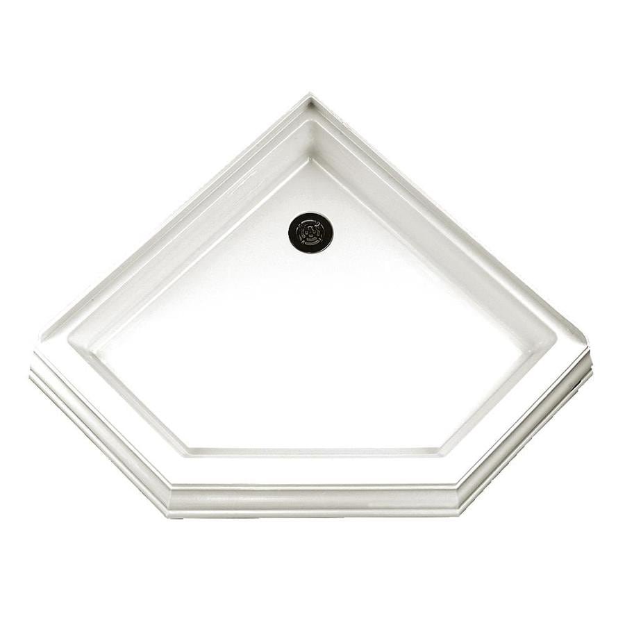 American Standard 36.25-in L x 36.125-in W White Acrylic Neo-Angle Corner Shower Base