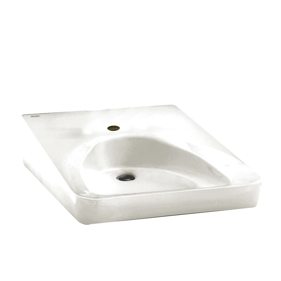 American Standard White Wall Mount Rectangular Bathroom