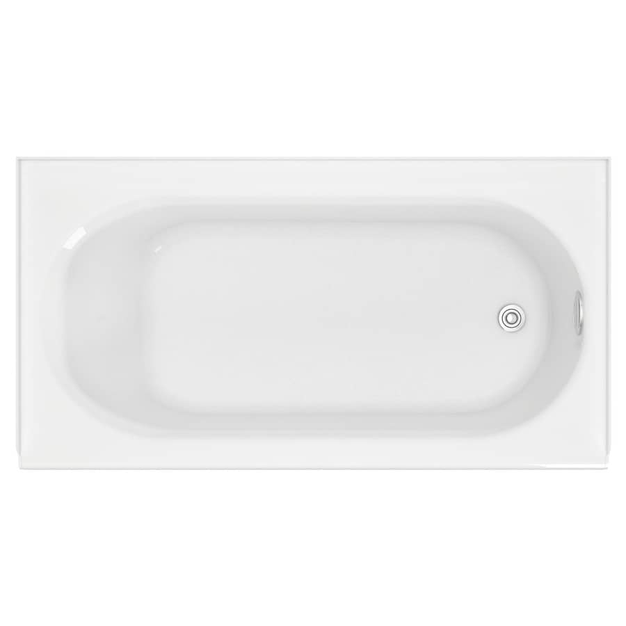 American Standard Princeton 60-in White Porcelain Enameled Steel Skirted Bathtub with Right-Hand Drain
