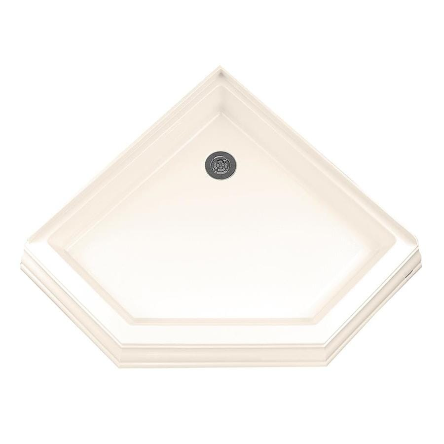 American Standard 36.25-in L x 36.125-in W Linen Acrylic Neo-Angle Corner Shower Base