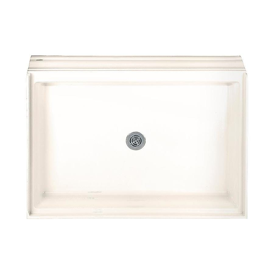 American Standard Linen Acrylic Shower Base (Common: 34-in W x 60-in L; Actual: 34.125-in W x 60.125-in L)